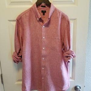 J. Crew Slim fit Linen Shirt